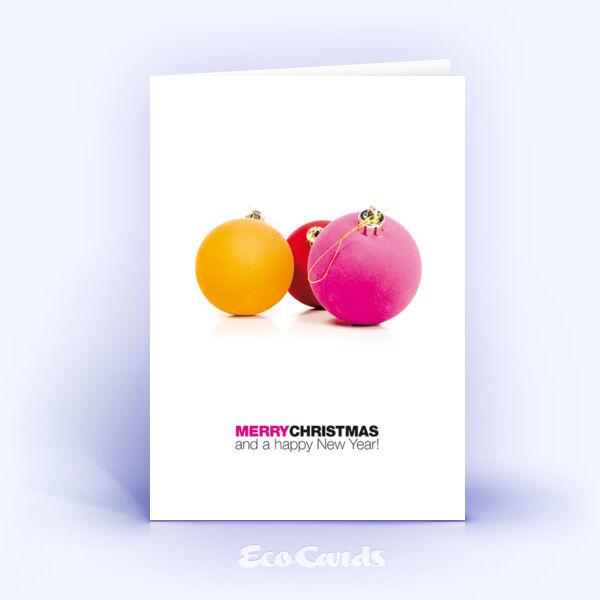 individuelle weihnachtskarte mit pinkem design. Black Bedroom Furniture Sets. Home Design Ideas