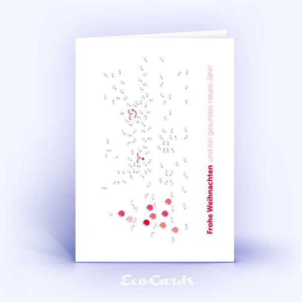Öko Weihnachtskarten Nr. 977 rot mit spannendem Bilderrätsel sind mit einem individuellen Kartenmotiv versehen.