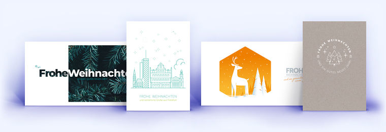 Moderne Weihnachtskarten.Moderne Weihnachtskarten Eco Cards