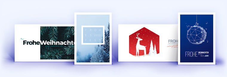 Geschäftliche Weihnachtskarten - edel und hochwertig