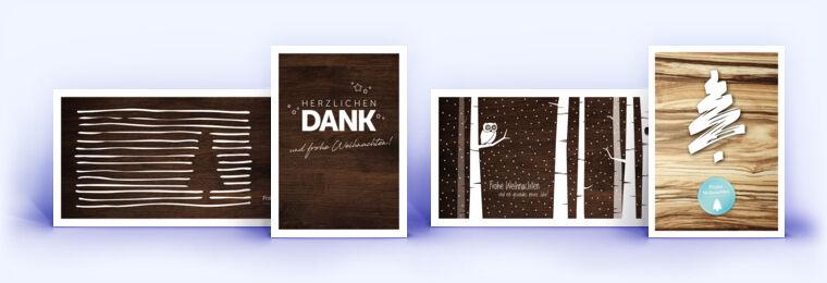 Holz Weihnachtskarten.Weihnachtskarte Mit Holzmaserung Und Weihnachtskarten Mit Holzdekor