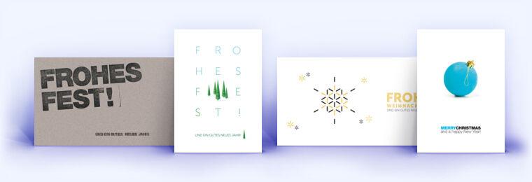 schlichte weihnachtskarten mit exklusiven designs. Black Bedroom Furniture Sets. Home Design Ideas
