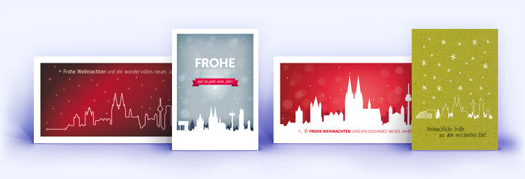 Weihnachtskarten Per Mail Gratis.Köln Weihnachtskarten Eco Cards